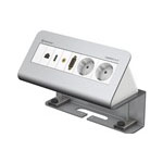 CablePort Desk² 4-fach, Aluminium eloxiert