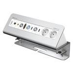 CablePort Desk² 6-fach, Aluminium eloxiert
