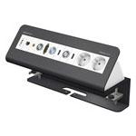 CablePort Desk² 6-fach, pulverbeschichtet RAL 7015