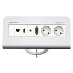 CablePort Desk² 80 4-fach, Aluminium eloxiert
