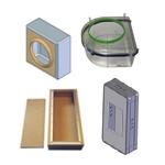 Einbetoniergehäuse und Mauerkästen für Einbaulautsprecher