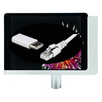 iPad Tischständer mit USB-C und Netzwerkbuchse