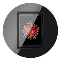 Viveroo Loop Table in DeepBlack - iPad Tischeinbaulösung