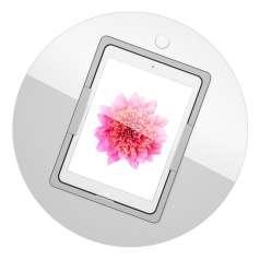 Viveroo Loop Table in ClearWhite - iPad Tischeinbaulösung