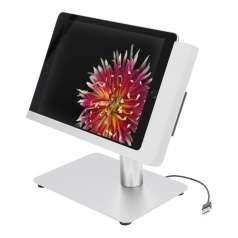 Viveroo Free Flex iPad Ständer mit USB-C und Netzwerkbuchse in SuperSilver