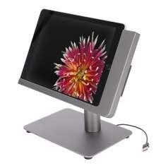 Viveroo Free Flex iPad Ständer mit USB-C und Netzwerkbuchse in DarkSteel