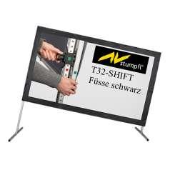 AV Stumpfl T32-Shift Füsse Schwarz inkl. Rahmenadapter und Flügelschrauben