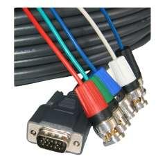 VGA-Kabel auf 5 BNC m-m